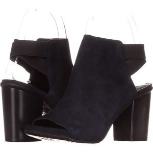 Kenneth Cole Reaction Shoes - Kenneth Cole Reaction Open Toe Bootie- Black Suede